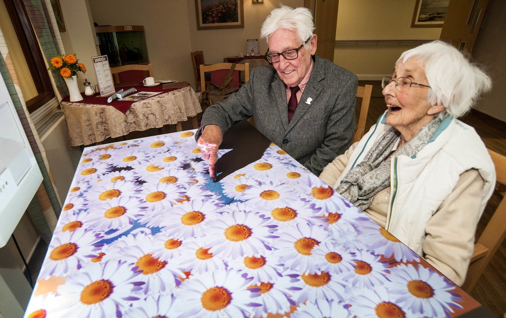 'Magic tables' bring joy and laughter to care homes