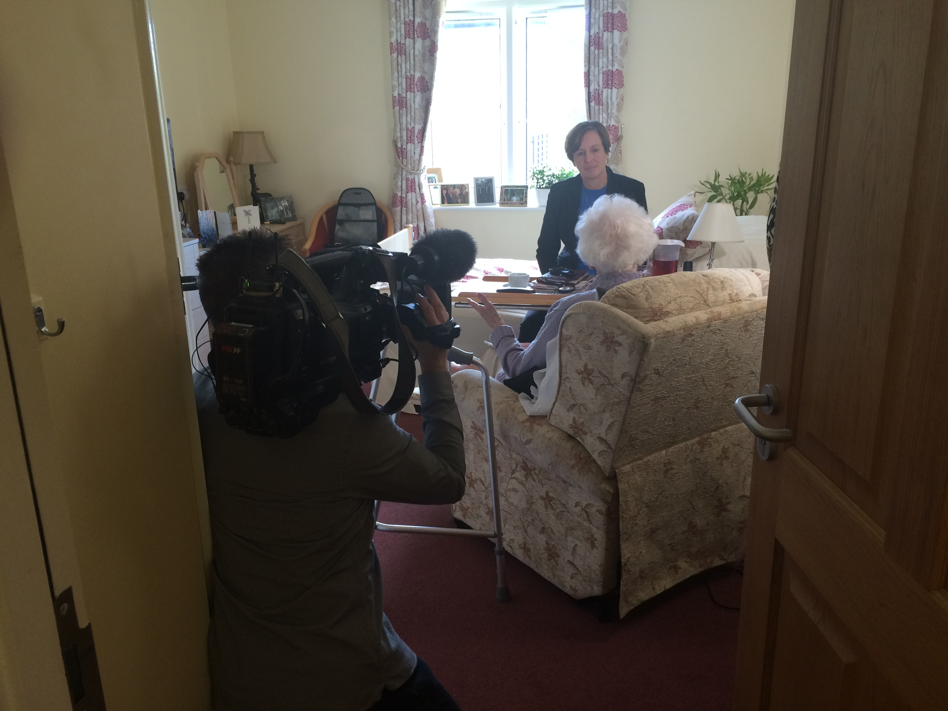 BBC interviewing MHA care home resident