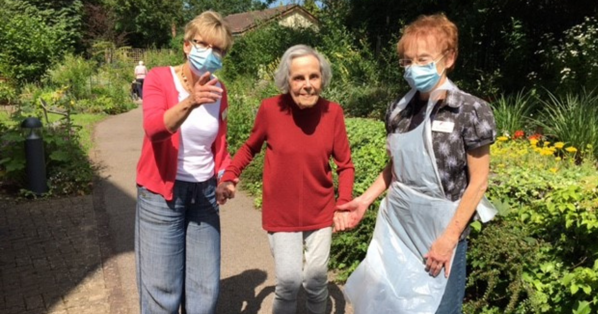 MHA Aigburth care home visited by RHS assessor following garden transformation