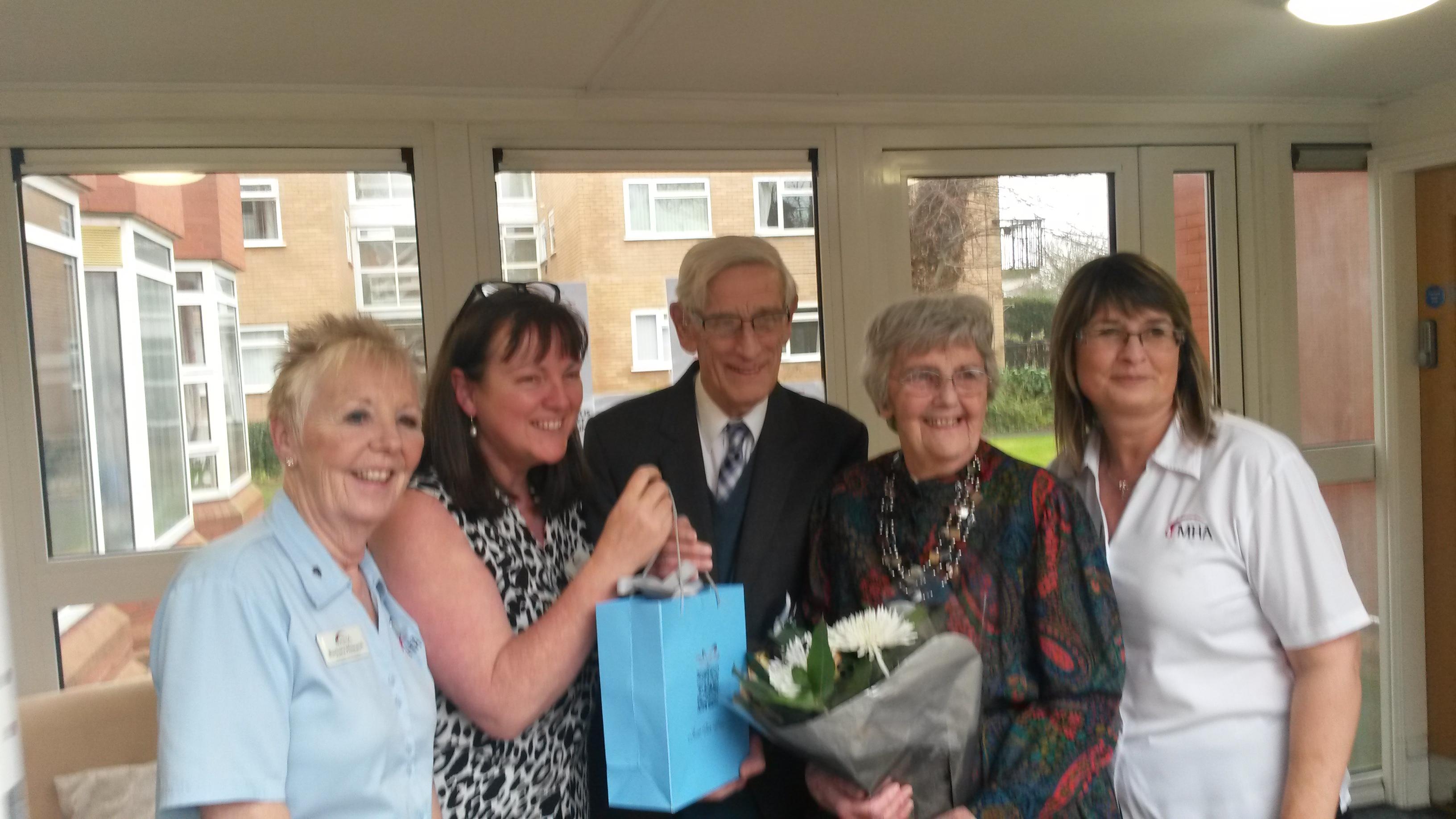 Honouring Eric for 26 years volunteering