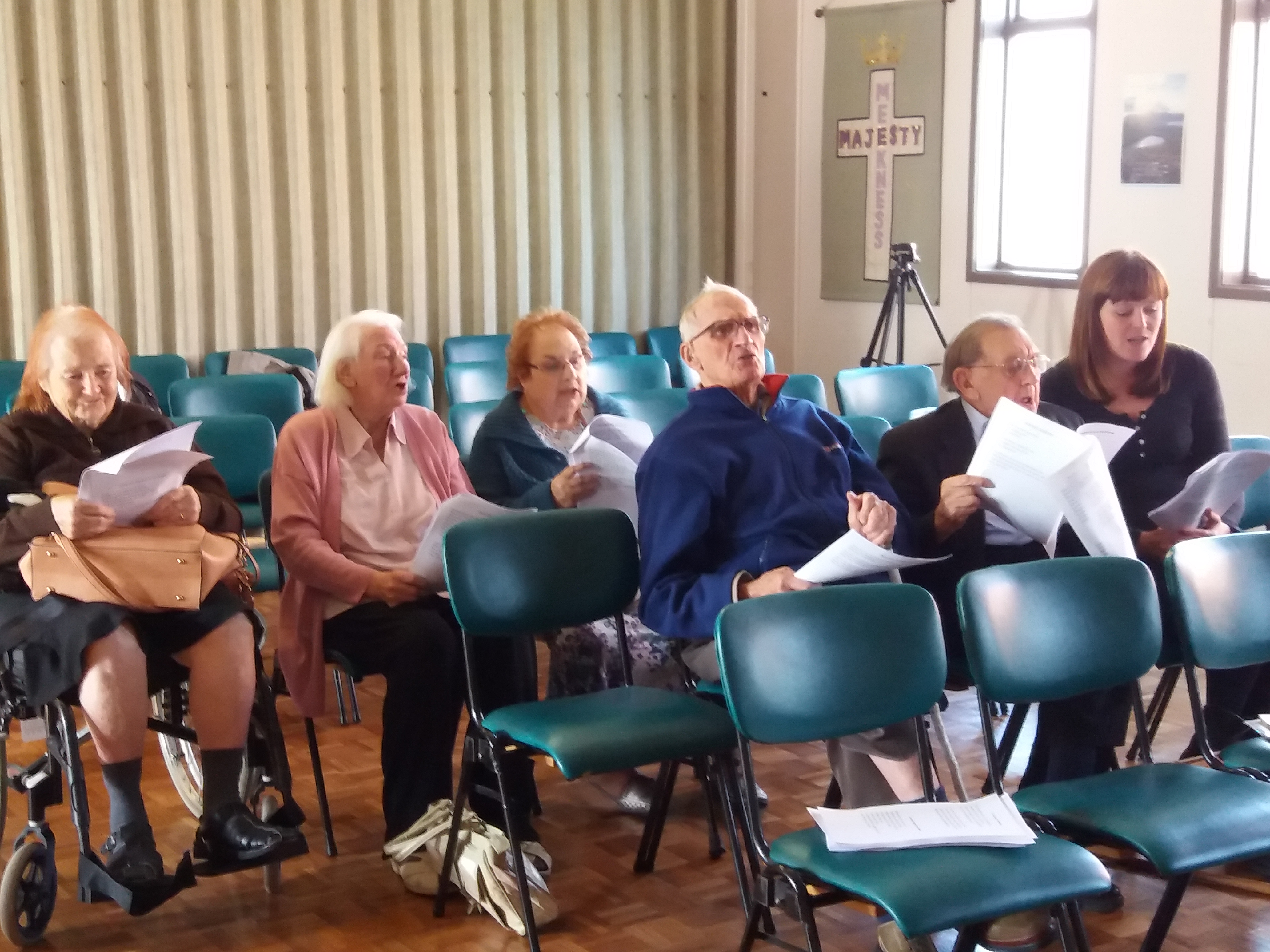 Doncaster Live at Home members enjoying a singing session