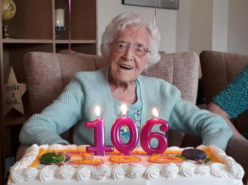 Monica Budge turns 106