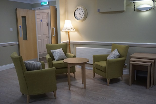 Refurbished coffee shop at MHA Maple Leaf House care home, Ripley, Derbyshire.jpg