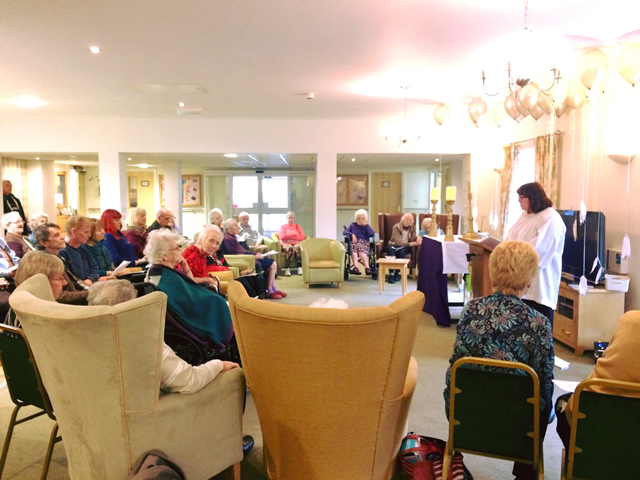 remembrance service at MHA Waterside House care home