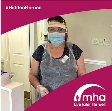 Volunteer Sheila is one of MHA's #HiddenHeroes