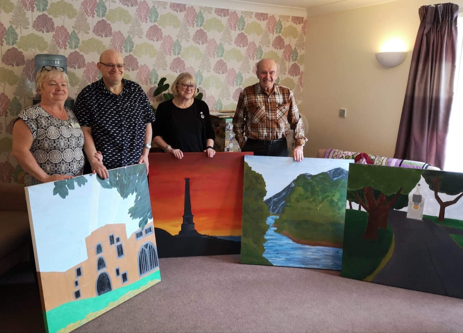 artwork for the walls of Amathea care home